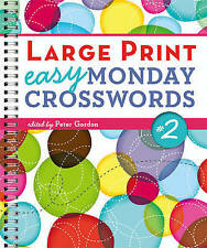 Large Print Easy Monday Crosswords No. 2, Peter Gordon