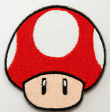 Red Mushroom Patch Embroidered Badge Costume Super Mario World All Stars Kart