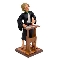 "GUILLERMO FORCHINO FEMALE LAWYER  8 7/8"" COLLECTIBLE COMIC ART LAW GAVEL DEBATE"