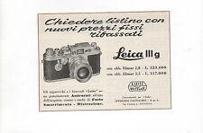 Pubblicità vintage 1958 LEICA PHOTO FOTO LEITZ old advertising reklame werbung