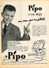 PUBLICITE ADVERTISING 025  1956  PIPO   blazer vetements enfant