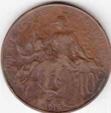 PIECE MONNAIE FRANCE 10 Centimes 1916 DANIEL-DUPUIS état voir scan