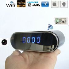 New WIFI 1080P HD SPY Camera IR Night Vision Hidden Clock Motion Detection Video