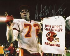Dexter Manley White Jersey Autographed 8x10 Washington Redskins