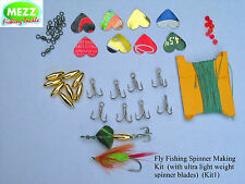 Fly Fishing Spinner Making Kit (with ultra light weight spinner blades) (Kit 1)