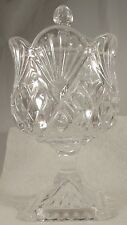 GODINGER CRYSTAL PINEAPPLE COLLECTION FOOTED CANDY DISH WITH LID/COVER