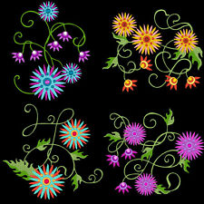STARBURST FLOWERS - 30 MACHINE EMBROIDERY DESIGNS (AZEB)