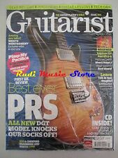 GUITARIST Magazine SEALED Lug 2008 + cd Monte Montgomery Best Ever PRS Paul Utra