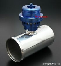 "Turbo Piston Type BOV Blow off Valve  + 3"" OD Stainless Steel Pipe XS Blue"