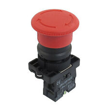 22mm NC N/C Red Mushroom Emergency Stop Push Button Switch 600V 10A AD