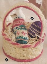 Crochet Pattern ~ Easter Eggs & Basket Kids Toy ~ Instructions