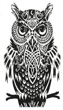 Owl Temporary Fake Tattoos Waterpoof Bird Wisdom Intelligence Body Art Transfer