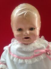 """Antique Large 20"""" Composition Doll Tickletoes Type Face"""