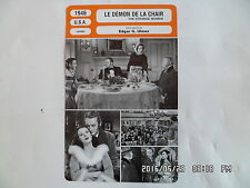 CARTE FICHE CINEMA 1946 LE DEMON DE LA CHAIR Hedy Lamarr George Sanders