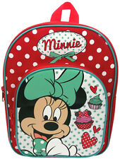 Disney MINNIE MOUSE CUPCAKES ARCH BACKPACK Bag Toddler/Child School/Sport/ BN