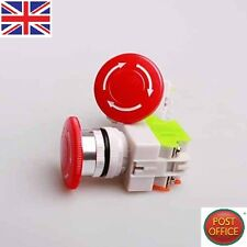2pcs 600V 10A Red Mushroom Emergency Stop Push Button Switch