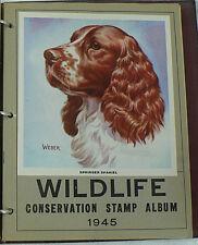WILDLIFE CONSERVATION STAMP 1945 ALBUM