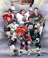 GRETZKY : giclee print on canvas poster painting no autograph B-0823