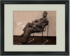 Louis Armstrong Jazz Musician signed framed photo