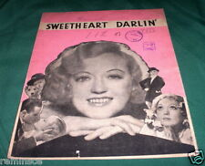 """SWEETHEART DARLIN""  SHEET MUSIC - MARION DAVIS - UNIQUE 1933 - FROM MOVIE"
