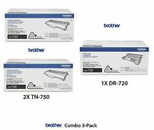 NEW 3 Pack Genuine OEM Brother TN-750 Toner & DR-720 Drum SEALED