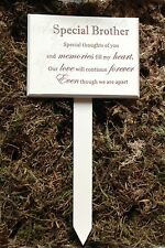 Memorial For Special Brother Wooden Grave Stick, Stake Ornament Tribute Funeral