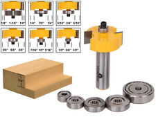 "Rabbet Router Bit with 6 Bearings Set - 1/2"" Shank - Yonico 14705"