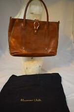 Ladies Large Brown Leather Massimo Dutti Handbag Shoulder bag