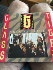 "GLASS TIGER - THIN RED LINE - RARE VINYL 7"" SINGLE 1986 NM/GD"