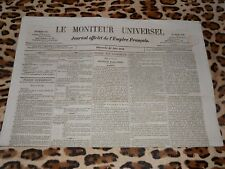 LE MONITEUR UNIVERSEL, journal officiel de l'empire français, n° 178, 27/06/1858