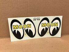 """VINTAGE ORIGINAL1960'S MOON EYES  WATER TRANSFER DECAL LARGE SIZE 10"""" X 4.5"""""""
