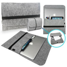 Felt Sleeve Bag with Cover CHARGER Case for Apple MacBook Pro, Retina & Air