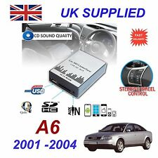 AUDI A6 2001- 04 MP3 SD USB CD AUX Input Audio Adapter Digital CD Changer Module