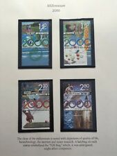 2000 Millennium Full Page Israel Stamps Set Of 4