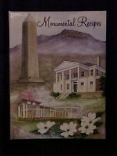 Monumental Recipes, Kings Mountain Woman's Club Cookbook NC