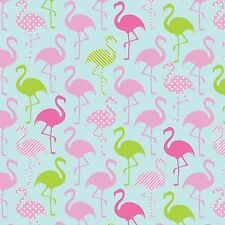 Flamingo Party By The yard KNIT Fabric 96% cotton 4%spandex