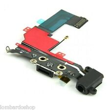 CONNETTORE CARICA DOCK MICROFONO RICARICA AUDIO FLEX PER APPLE IPHONE 5S NERO