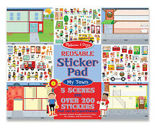 Melissa and Doug Reusable Sticker Pad -My Town # 9114