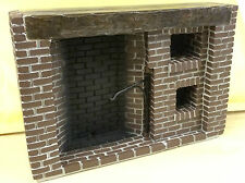 Tudor Style Walk-in fireplace Dolls House Miniature Brick Work Design