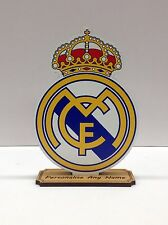 Personalised Football Club REAL MADRID Wooden Craft Laser Cut MDF 6mm Thickness
