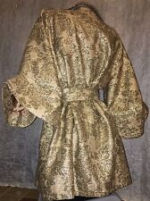 AUTHENTIC DOLCE GABBANA ROYAL GOLD RUNWAY EXTRA WIDE RUCHED SLEEVE COAT 40