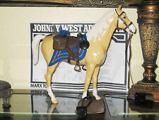 Marx Johnny West Horse Custom Vintage US (CAVALRY BROWN SADDLE TACK) LQQKS NEW!