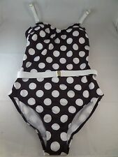 NWOT Lindy Hop Lovely at the Lake Black white 1pc Swimsuit sz XL See Measure