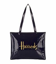 HARRODS NEW SEASON SIGNATURE DESIGN SHOULDER TOTE BAG NAVY BLUE - LUXURY GIFT
