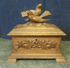Antique Black Forest Carved Wooden Box