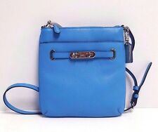 Coach Polished Pebble Leather Swagger Swingpack Satchel 36501 (Azure/Silver)
