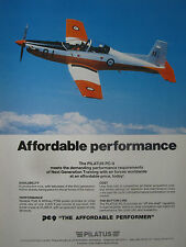 8/1989 PUB PILATUS PC-9 MILITARY TRAINER RAAF AUSTRALIAN AIR FORCE ORIGINAL AD