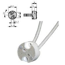 Douille en porcelaine pour G4 GU5.3 GX 5,3  GY6.35 câble 14cm Marine halogene..