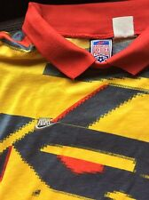 VINTAGE Size Large Nike Premier Soccer Yellow Goalkeeper Jersey