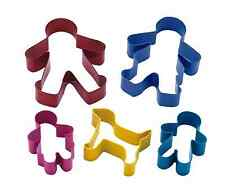 Kitchencraft Set 5 Metal Gingerbread Family Shape Cookie/Biscuit Cutters. Cakes.